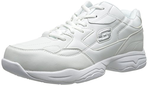 Skechers Women's Work Relaxed Fit: Felton - Albie SR Shoe, White, 9 M US