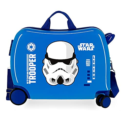 Star Wars Storm - Valigia per bambini, blu, 50 x 38 x 20 cm, rigida ABS, chiusura a combinazione laterale, 34 l, 1,8 kg, 4 ruote, bagaglio a mano