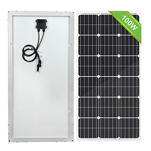 ECO-WORTHY Panneaux solaires photovoltaïques 100 W 18 V Design compact