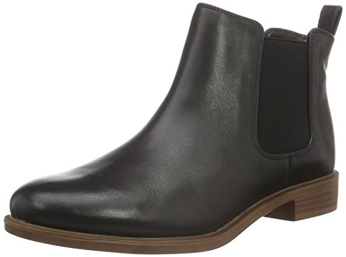 Clarks Damen Taylor Shine Chelsea Boots, Schwarz (Black Leather), 38 EU