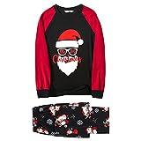 Jayehoze Pijamas navideños para la Familia Conjunto de Pijamas Familiares Suaves y duraderos para Todos los Miembros de la Familia