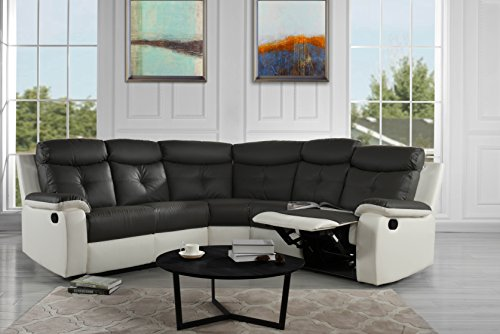 Large Classic and Traditional Bonded Leather Sectional Sofa