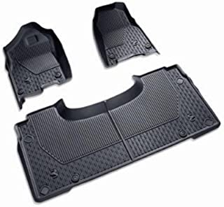82215321AB - 2019 Ram 1500 All-Weather Slush Mats - Black - Crew Cab