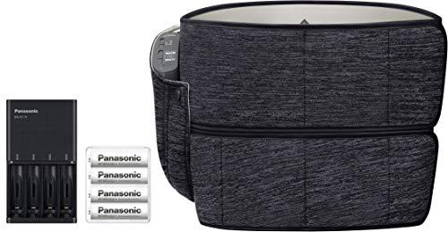 パナソニック エアーマッサージャー 骨盤おしりリフレ コードレス ブラック EW-RA79-K + 単3形充電池 & 急速充電器 セット