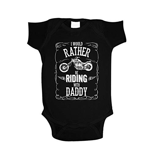 I'd Rather Be Riding with Daddy Toddler T-Shirt 3T Black