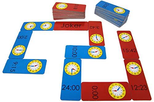 Wissner aktiv lernen 200095.IMP - Uhrzeit Domino, Lernspiel für Kinder zum spielerischen Üben der Uhr und Zeitangaben, hergestellt aus recycelter Pappe