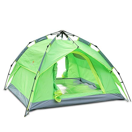 jklj Las Tiendas de Marco De Apertura rápida Tienda al Aire Libre 3-4 Personas automática Camping Oxford Tela Impermeable de la Playa Tienda de campaña Ideal para Acampar al Aire Libre Senderismo