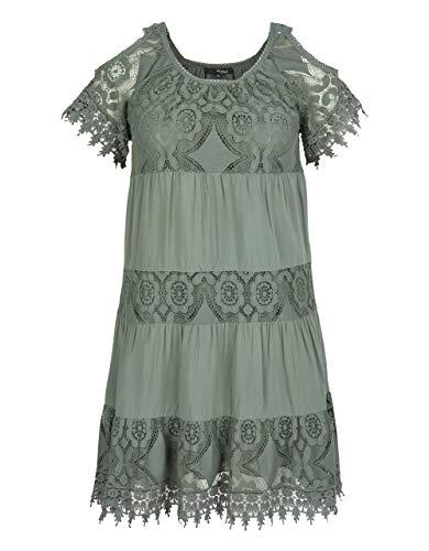 My Own by Adler Mode Damen Kleid im Off-Shoulder-Style Khaki 36