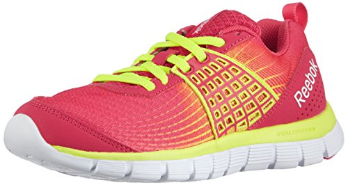 Reebok Z Dual Rush, Damen Laufschuhe, Rot (Blazing Pink/Solar Yellow/White), EU 37.5 (UK 4.5 / US 7)