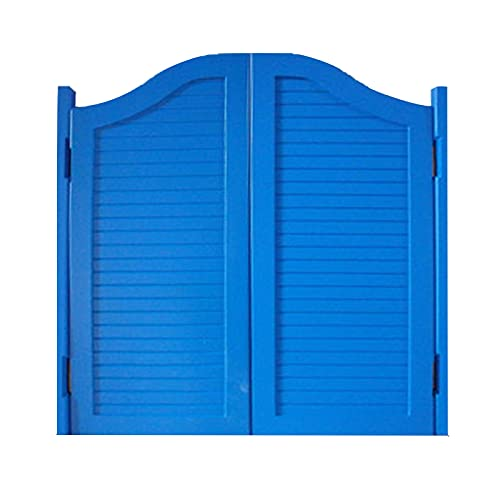 CHAXIA Puertas Batientes De Cafe, Bisagra De Metal Madera Maciza Puerta del Salón, Dividir Sala De Estar Habitación Puerta De Media Cintura, Tamaño Personalizado (Color : Blue, Size : 90x90cm)