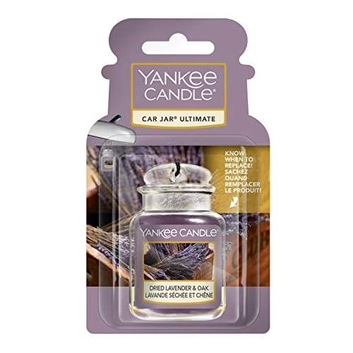 Yankee Candle Car Jar Ultimate Profumatori per Auto, Lavanda Essiccata e Quercia, Farmers' Market Collection