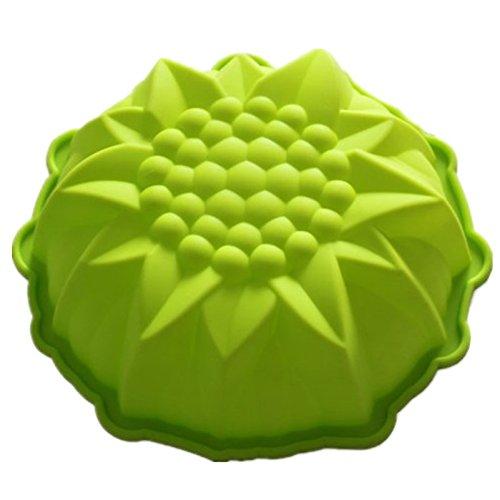 Vancgoods 9-Zoll-runde Blumen-Kuchen-Backen-Form-Kuchenform flexible Silikon-Kuchen-Herstellungform DIY Kuchen-Nachtisch backen ware molds