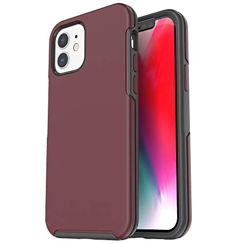 Krichit Ongoing Series Compatible with iPhone 12 Mini case (2020), Anti-Drop and Shock-Absorbing case Compatible with 5.4-inch iPhone 12 Mini case (Claret)