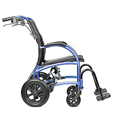 """Strongback Mobility- Lightweight- Excursion 12 Wheelchair with Attendant Brake, Regular 18"""" Seat, 12"""" Rear Wheels, 2.0 from Strongback Mobility"""