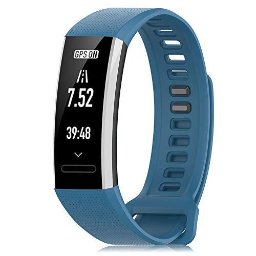 Onedream Pulsera Compatible para Huawei Band 2/ Band 2 Pro ERS-B19 ERS-B29 Correa, Sport Silicona Pulseras de Repuesto, Suave Ajustable Reemplazo Banda para Hombres Mujeres (Sin Reloj)
