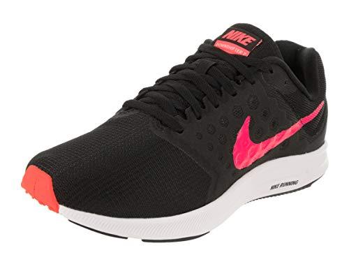 Nike Women's Downshifter 7 Running Shoe, Black Racer Pink White Size 5