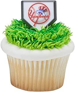 MLB - New York Yankees Cupcake Topper Rings - Pack of 24
