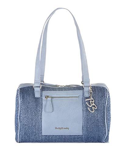 Betty Barclay Bowling Bag blau Schultertasche Handtasche Umhängetasche