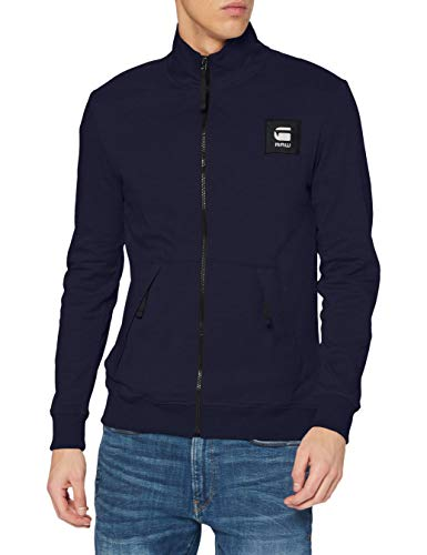 G-STAR RAW Zip Through Track Tweeter Chaleco de Sudadera, Sartho Blue C584-6067, M para Hombre