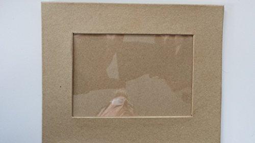 Papp - Bilderrahmen 19 x 15cm, innen 12,9 x 8,8cm,zum Aufstellen
