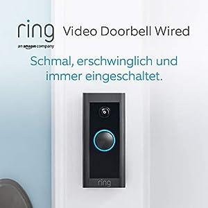 Wir stellen vor: Ring Video Doorbell Wired von Amazon – HD-Video Türklingel, fortschrittliche Bewegungserfassung, festverdrahtete Installation | Mit 90-tägigem Testzeitraum für Ring Protect