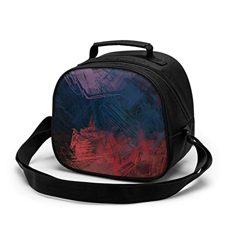 Artistic Digital Palette - Bolsa de almuerzo aislada, mini enfriador térmico con asa para niñas, niños, escuela, viajes, picnic, comida para niños