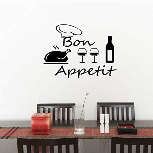 tzxdbh Wandtattoos, decoratieve lijm, waterdichte wandsticker, keuken, tegels, lekker, eten, wijn, decoratie, 32 x 44 cm