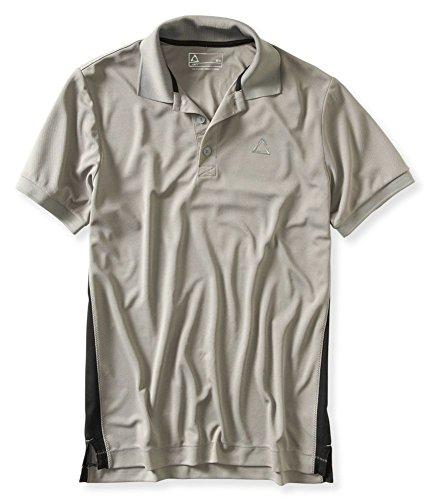 AEROPOSTALE Mens A87 Wick Away Rugby Polo Shirt, Grey, Medium