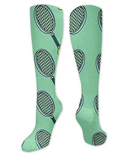 NA Calcetines casuales para hombre y mujer, de tubo alto, mediados de pantorrilla, para disfraz de cosplay, calcetines para nias, calcetines novedosos, pelota de tenis y raqueta