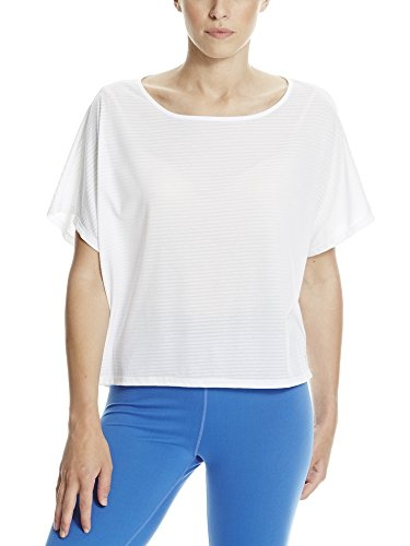 Bench Damen Slinky Active Tee T-Shirt, White, S