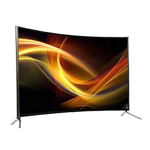 LYYAN Gebogener 55-Zoll-Smart-TV, HD-Fernseher Hochauflösender Flachbildfernseher Eingebauter HDMI-USB-VGA-Anschluss-Bildwiederholfrequenz 60 Hz