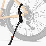 Favoto Pata de Cabra para Bicicleta, Soporte de Bicicleta de Altura Ajustable Aluminio Aleación Plegable para Bicicleta de Montaña Carretera 24' 26' 27.5' 28' 700C, Bici Caballete Lateral para Adultos
