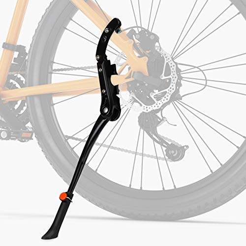 """Favoto Bike Kickstand Bicycle Aluminum Alloy Kickstand Adjustable Rear Side Mount Fits 24"""" 26"""" 27.5"""" 28"""" Mountain Adult Hybrids City Beach Cruiser Bike Sturdy Single-side Stand Replacement Accessories"""