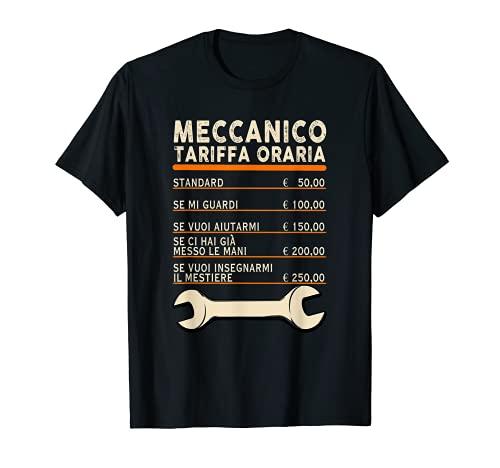 Uomo Meccanico tariffa oraria Regalo divertente per meccanici Maglietta