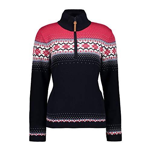 CMP Damen Knitted Pullover, Black Blue, 38