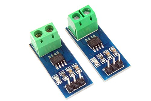 NOYITO ACS712 Current Sensor Module Detector ACS712ELC 5A 20A 30A Amps Amperage Range (Pack of 2) (5A)