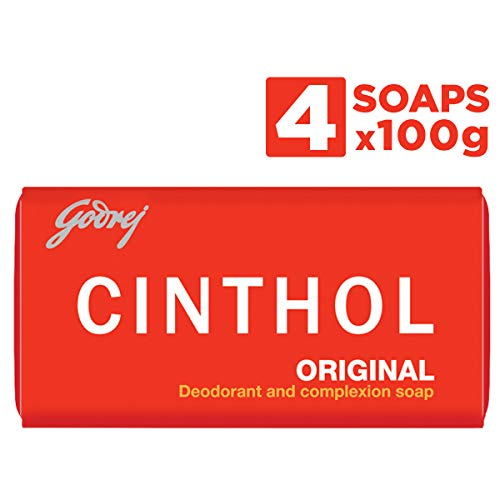 Cinthol Original Deodorant and Complexion Soap - 4 Soap Pack 100g X 4 by Cinthol