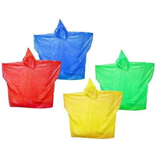 COM-FOUR® 4x regenponcho met capuchon - herbruikbare poncho in verschillende kleuren - noodponcho voor concert, stadion, wandelen, kamperen