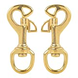 AOWESM 3-1/2 inch Solid Brass Swivel Butterfly Bolt Snap Hooks 3/4'' Swivel Eye Single Ended Scuba Diving Clips Keychain Holder for Shellback, Kayak Boat, Dog Leash, Flag Halyard and More (2 Pieces)
