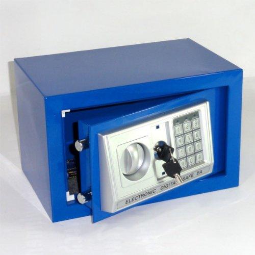 caja fuerte caja fuerte azul - aproximadamente 12l - de accionamiento candado de combinación numérica + emergencia