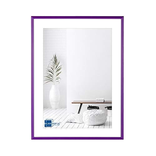 Bildershop-24 Kunststoffrahmen modern Bilderrahmen, (30 X 40 cm) lila