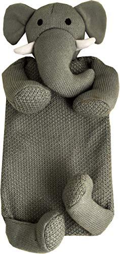 Wärmflasche, Design Elefant, 1 l, Grau