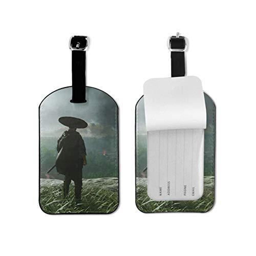 Gh-ost of Tsushima Jin Sakai Etiquetas de equipaje de viaje Etiquetas de equipaje de equipaje Etiquetas de maleta Titular de tarjeta