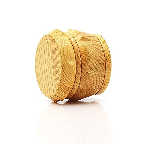 Yunding Herb Grinder,3 Layers Herb Grinder, Zinc Alloy Wood Grain Herb Grinder with Magnetic Top for Dry Herb and…
