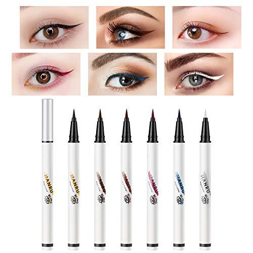 Richaa 6 Colores Delineador de Ojos de Colores Delineador de Ojos a Prueba de Agua Delineador de Ojos Waterproof
