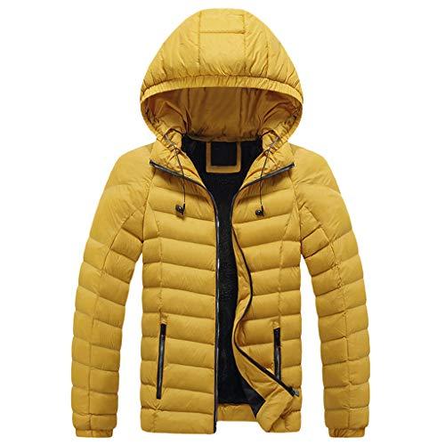 Ni_ka Cappotto Invernale da Uomo con Cerniera Imbottito Caldo e Velluto
