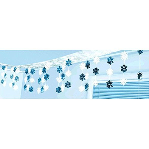 amscan Snowflake Ceiling Decoration-3.65m x 30.5cm-1 Pc