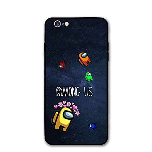 Among Us - Carcasa para iPhone 6/6s, diseño de dibujos animados, color negro
