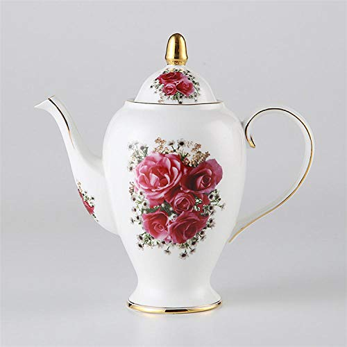 Cafetera de porcelana Vintage Bone China Tea Pot con Infuser Porcelana Coffee...