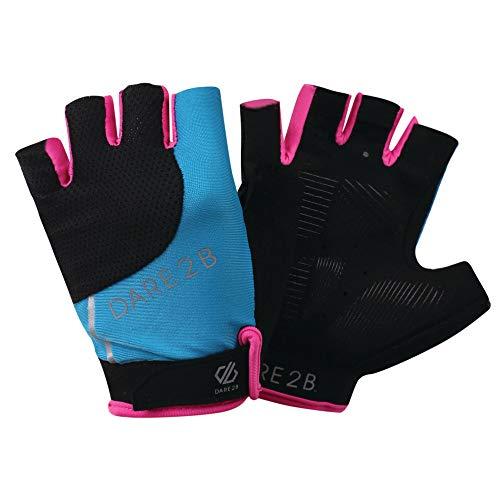 Dare 2b Damen Forcible Lightweight Hardwearing Ergonomic Cycling Mitt Handschuh, Blue Jewel/Cyber Pink, Größe S